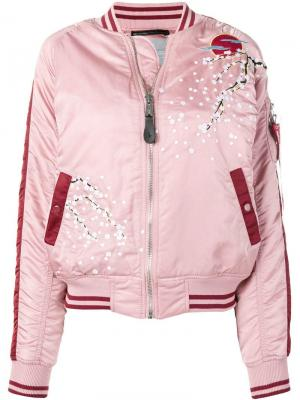 Embroidered bomber jacket Alpha Industries. Цвет: розовый