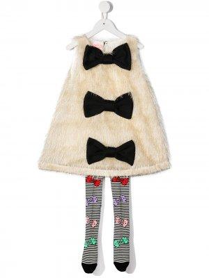 Комплект из платья и колготок WAUW CAPOW by BANGBANG. Цвет: белый