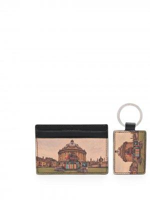 Подарочный комплект из картхолдера и брелка с принтом PAUL SMITH. Цвет: коричневый