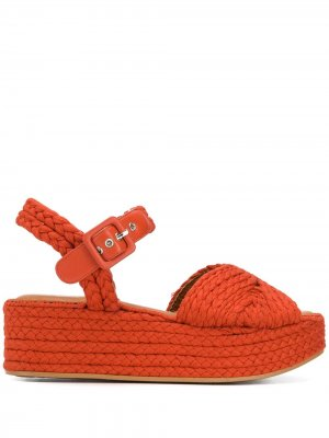 Босоножки Alda Clergerie. Цвет: оранжевый