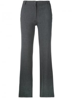 Брюки прямого кроя Armani Jeans. Цвет: серый