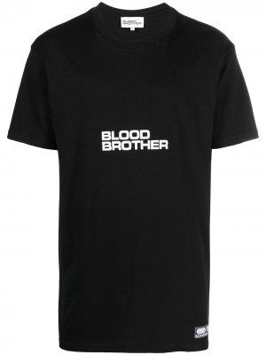 Футболка Hayes с логотипом Blood Brother. Цвет: черный