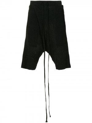 Трикотажные шорты с низким шаговым швом Julius. Цвет: черный