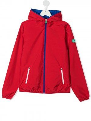 Куртка на молнии с нашивкой-логотипом Save The Duck Kids. Цвет: красный