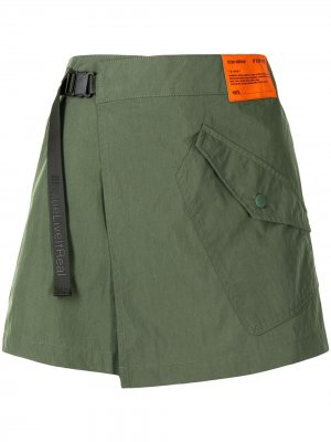 Расклешенная юбка-шорты izzue. Цвет: зеленый