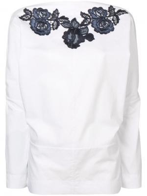 Блузка с вышивкой Antonio Marras. Цвет: белый