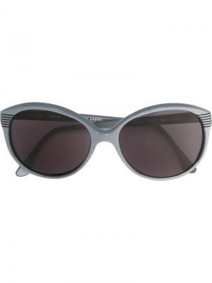 Солнцезащитные очки с круглой оправой Pierre Cardin Pre-Owned. Цвет: серый