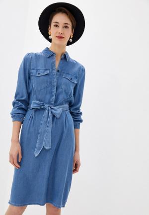 Платье джинсовое Vila. Цвет: синий