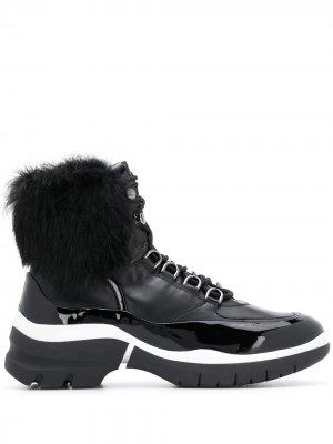 Ботинки со вставкой из овчины Hogl. Цвет: черный
