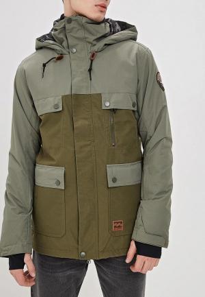 Куртка горнолыжная Billabong. Цвет: хаки