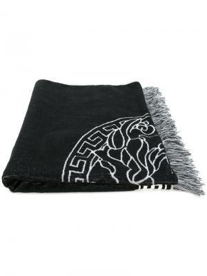 Пляжное полотенце Medusa Versace. Цвет: черный