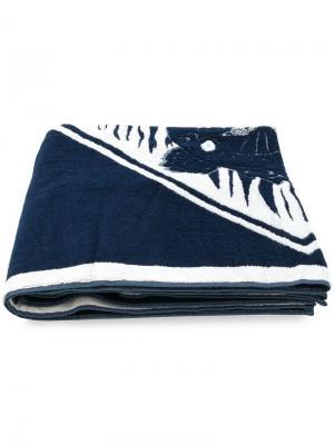 Пляжное полотенце Tiger Kenzo. Цвет: синий