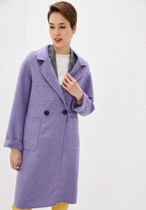 Пальто Marks & Spencer. Цвет: фиолетовый