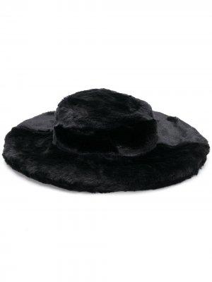 Широкополая шляпа из искусственного меха Kirin. Цвет: черный