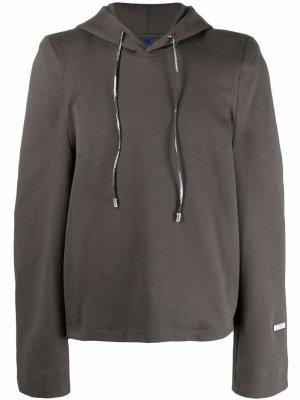 Пуловер с капюшоном Ader Error. Цвет: серый