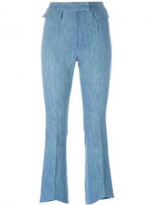 Брюки с клешем ниже колена John Galliano Vintage. Цвет: синий