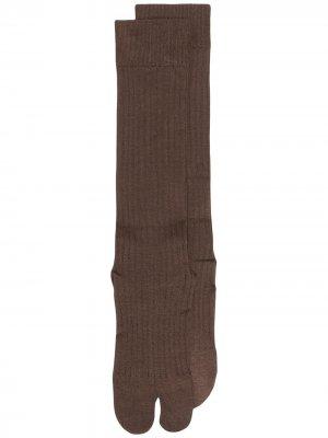 Носки в рубчик Jil Sander. Цвет: коричневый