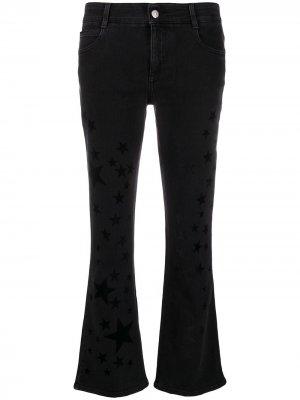 Расклешенные джинсы с принтом Stella McCartney. Цвет: черный
