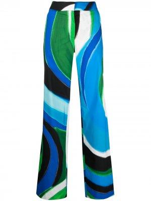 Расклешенные брюки с принтом Gianluca Capannolo. Цвет: синий