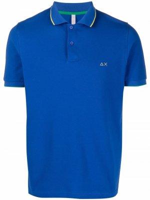 Рубашка поло с контрастной отделкой Sun 68. Цвет: синий