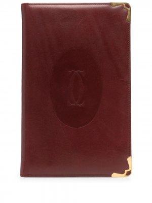 Обложка для блокнота pre-owned с тисненым логотипом Cartier. Цвет: красный