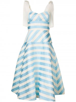 Платье А-образного силуэта в полоску Delpozo. Цвет: синий