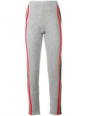 Side stripe track trousers Allude. Цвет: серый