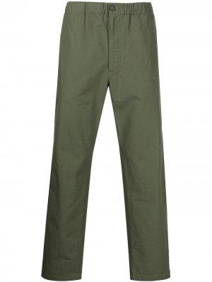 Прямые брюки с кулиской Engineered Garments. Цвет: зеленый