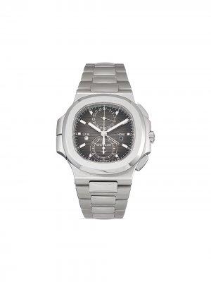 Наручные часы Nautilus pre-owned 40.5 мм 2020-го года Patek Philippe. Цвет: черный