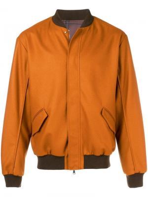 Reversible bomber jacket Qasimi. Цвет: желтый