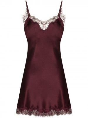 Ночная сорочка с кружевом Sainted Sisters. Цвет: фиолетовый