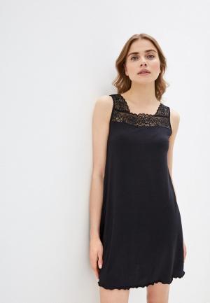 Сорочка ночная Дефиле. Цвет: черный