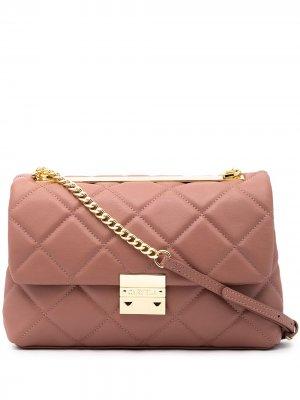 Большая стеганая сумка на плечо Bailey Carvela. Цвет: розовый