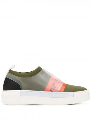 Кроссовки-носки с логотипом Vic Matie. Цвет: зеленый