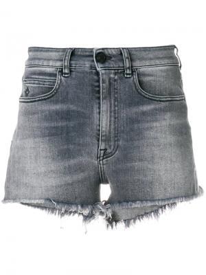 Приталенные джинсовые шорты Marcelo Burlon County Of Milan. Цвет: серый