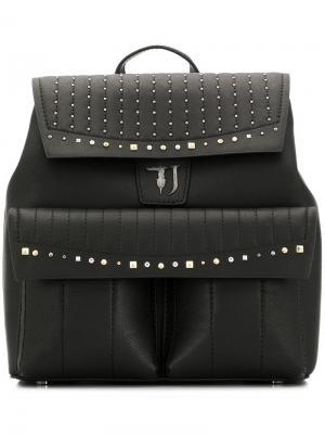 Рюкзак с заклепками Trussardi Jeans. Цвет: черный