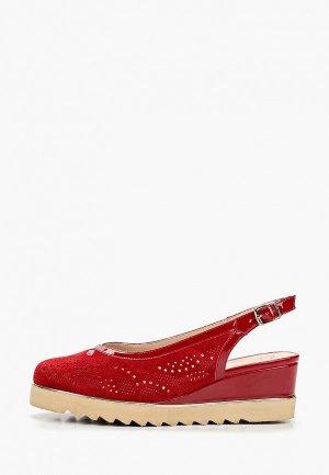 Туфли Balex. Цвет: красный