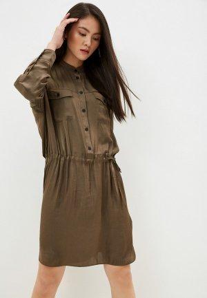 Платье Zadig & Voltaire. Цвет: хаки
