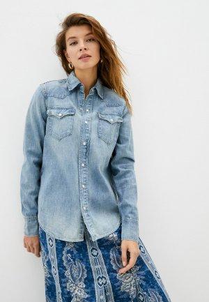 Рубашка Polo Ralph Lauren. Цвет: голубой