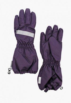 Перчатки Lassie. Цвет: фиолетовый