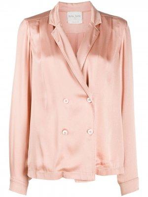 Двубортная блузка Forte. Цвет: розовый