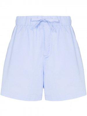 Пижамные шорты с кулиской TEKLA. Цвет: синий