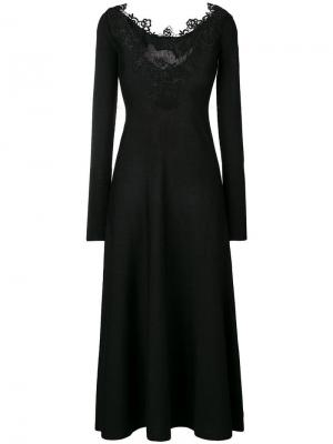 Lace trim dress D.Exterior. Цвет: черный