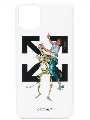 Чехол Pascal Skeleton для iPhone 11 Pro Max Off-White. Цвет: белый