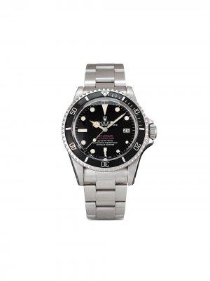 Наручные часы Sea-Dweller Double Red pre-owned 40 мм 1976-го года Rolex. Цвет: черный
