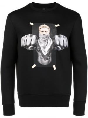 Boxing Brutus sweatshirt Neil Barrett. Цвет: черный