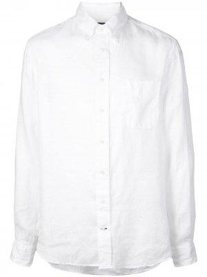 Рубашка на пуговицах Gitman Vintage. Цвет: белый