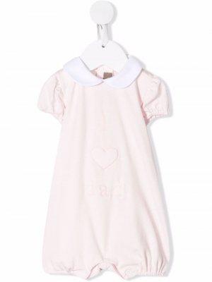 Ромпер с вышивкой Little Bear. Цвет: розовый