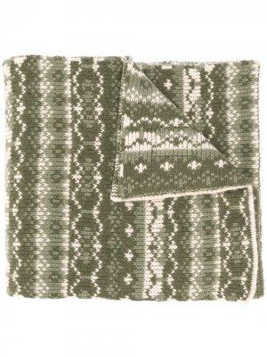 Объемный шарф вязки интарсия Paul & Shark. Цвет: зеленый