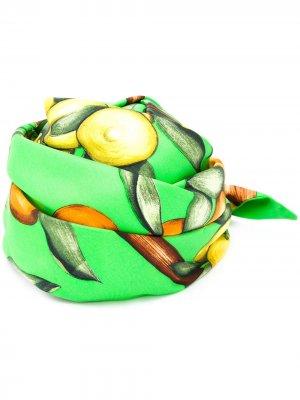 Бандана с принтом Hermès. Цвет: зеленый